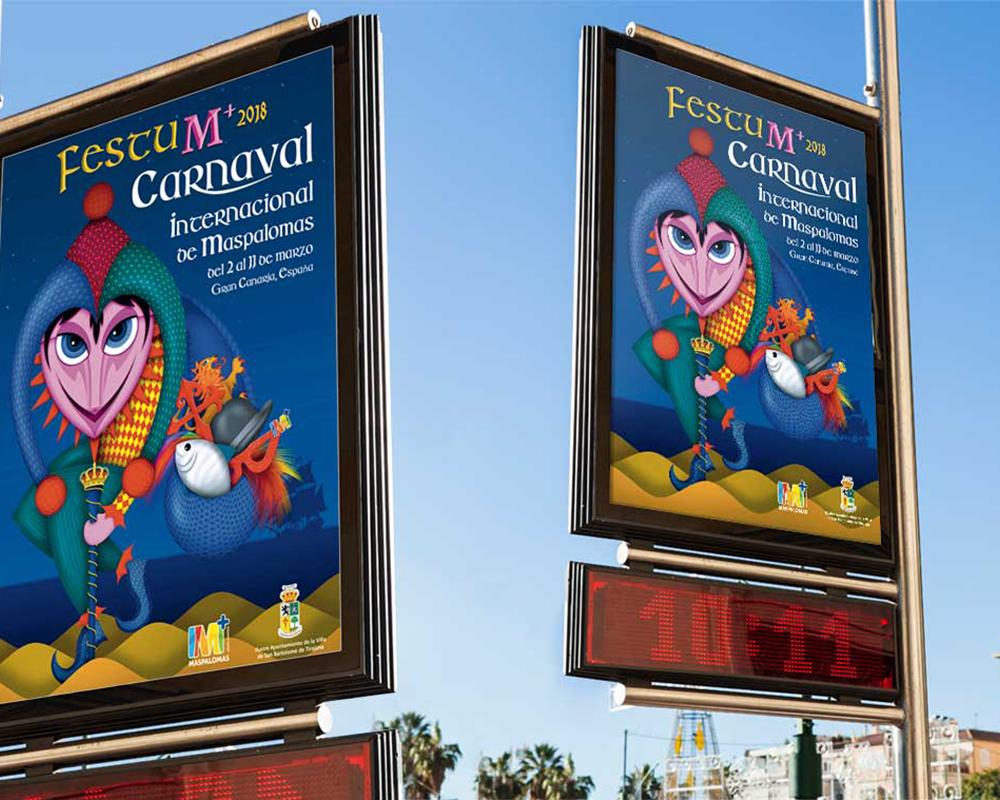 Cartel del Carnaval de Tirajana 2018