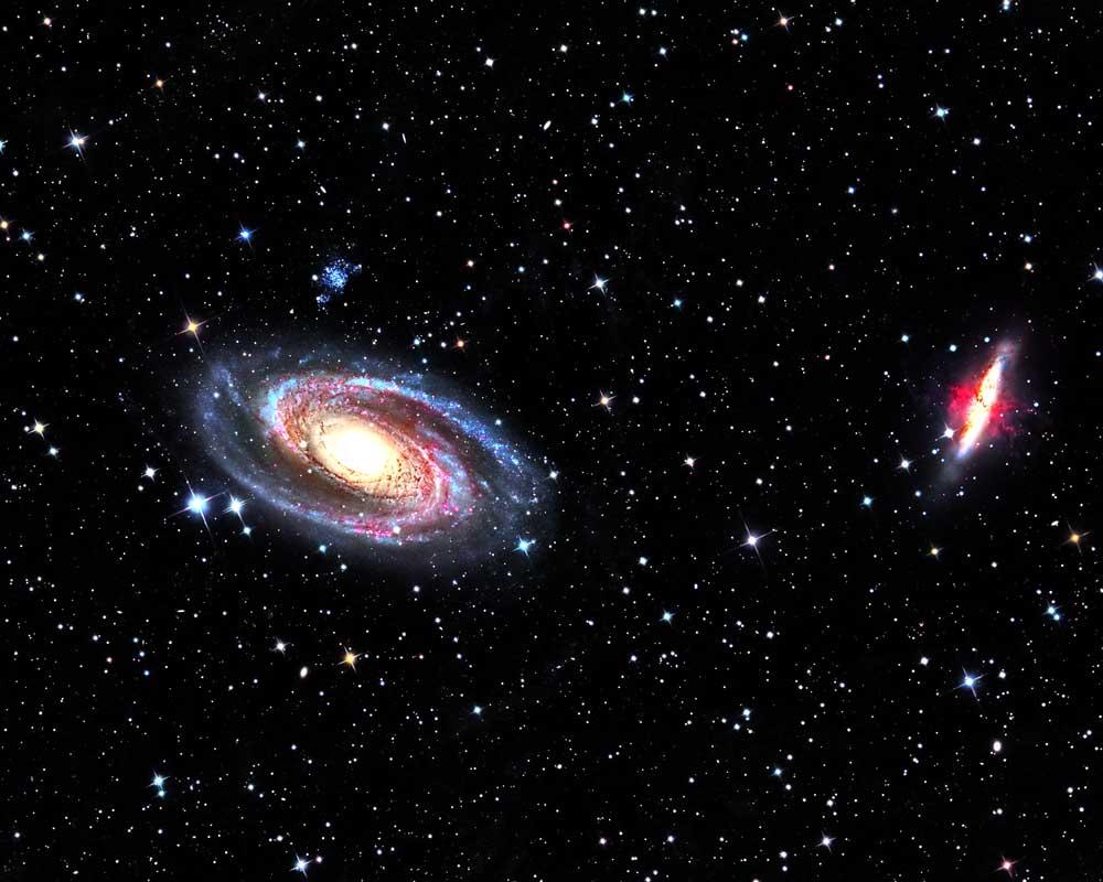 La galaxia sin materia oscura