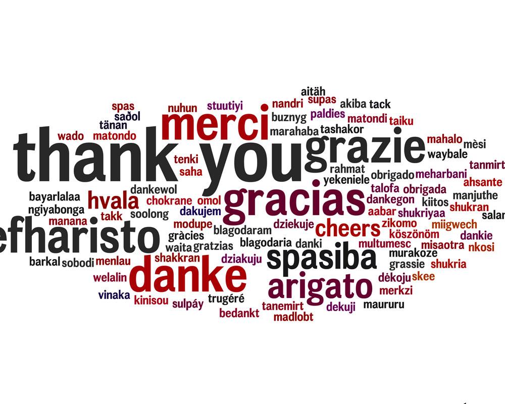 Agradecimiento y felicidad